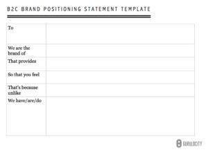 Gurulocity Brand Positioning Statement Template