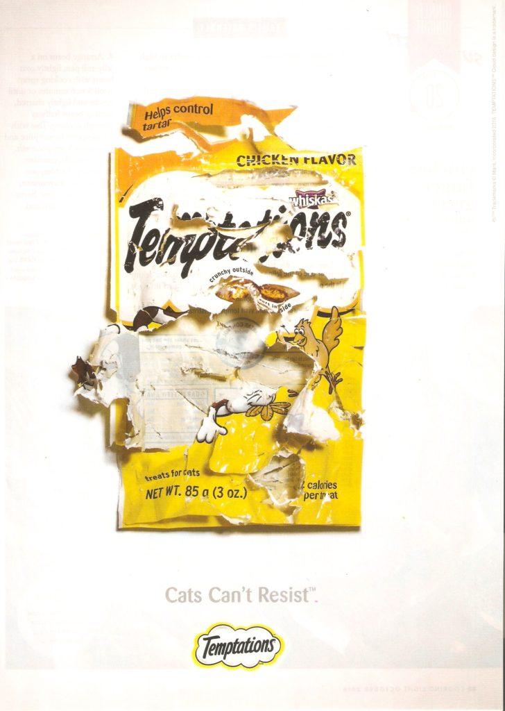 2016 Whiskas Temptations Print Advertisement Example