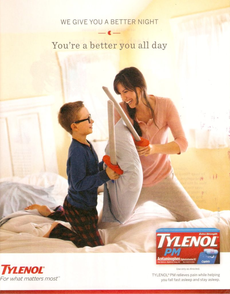 2016 Tylenol PM Print Advertisement Example